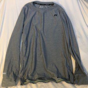 Athletic long sleeve gray tee